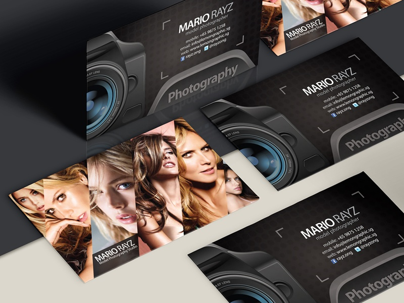 Photographer business card design photographer photography photography business card business card namecard photographer card black model