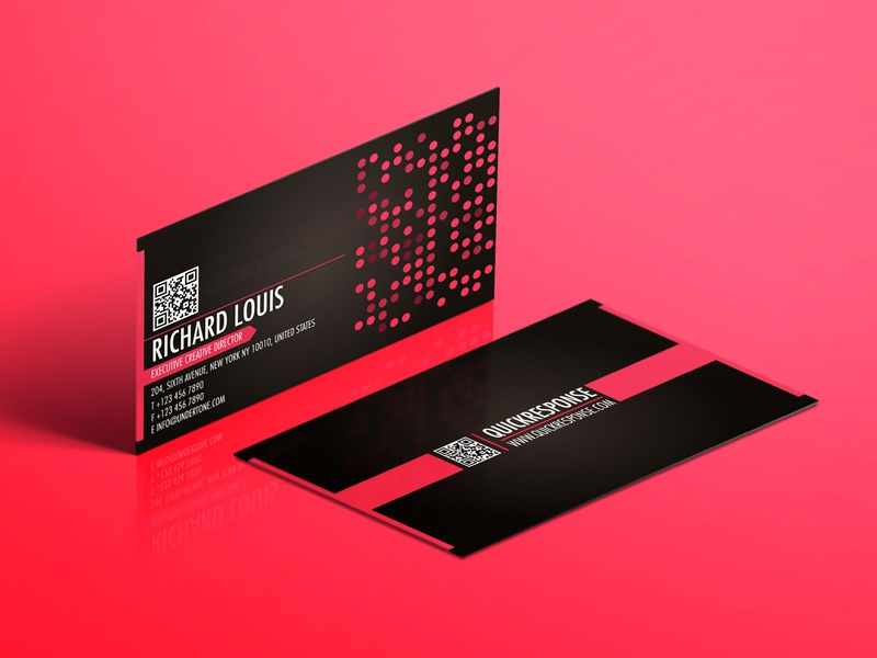 Hot pink business card design by Lemongraphic - Dribbble
