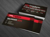 Soni consultants business card design 04