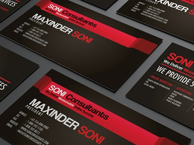 Soni Consultant Business Card Design black card brand branding business business card camera card clean colorful business card colors corporate corporate business card creative business card landscape minimalism model modern name card photographer photographer business card photographer card portfolio card print ready professional professional card