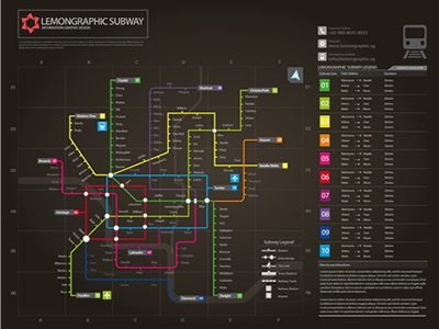 Subway infographic design elements + grid system subway infographic information graphic information design floor plan city route station legend grid system vector navigation plan chart graph data visualization information icons airport data elements trains railway interchange rainbow colors colorful subway colorful