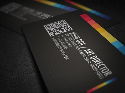 Quick Response Business Card brand branding business business card card clean colorful business card colors corporate corporate business card creative business card landscape minimalism modern name card print ready professional professional card black card qr futura quick response portfolio card detail business card rainbow card colorful pixel qr business card