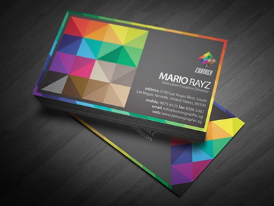 Fantasy Colors Business Card business card name card card portrait landscape print ready professional business corporate clean modern template corporate business card rainbow colors rainbow card colorful business card minimalism professional card brand branding