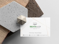 Broth&Co Jakarta business card design