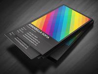 Rainbow typography business card 02