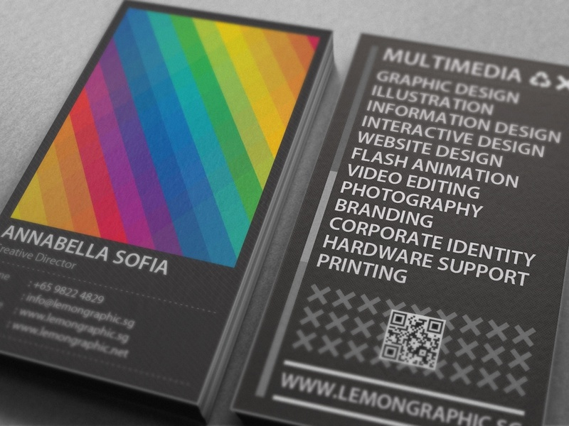 Rainbow Typography business card design by Lemongraphic - Dribbble