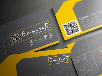 empireb car grooming business card design by lemongraphic dribbble