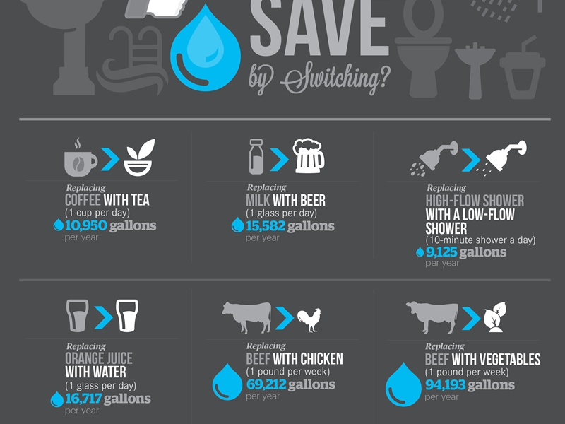 Water Saving Shower Heads >> Save Water Infographic Information Design Dribbble 02 by Lemongraphic - Dribbble