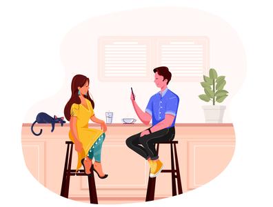 Meet love meet up dating graphic  design vector design charecter design illustration