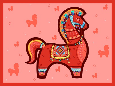 POHELA BOISHAKH (Horse) game typography graphic  design charecter design illustration
