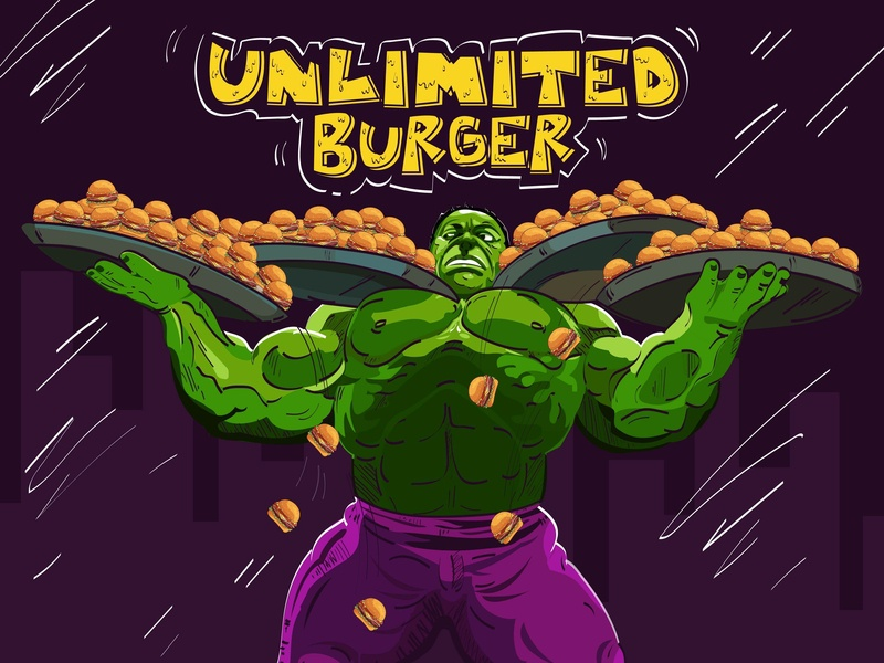 Hungry HULK design ui typography game graphic  design charecter design illustration
