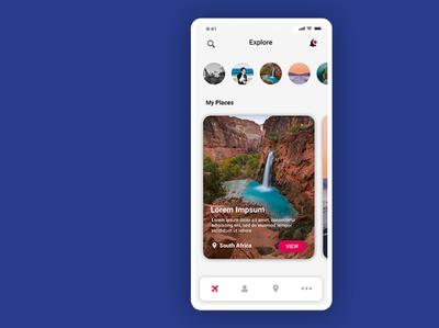 Clean Travel App Design