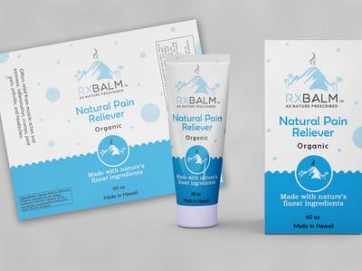 Packaging, Label design RXBALM label design packaging mockup packaging design label graphics design professional unique design
