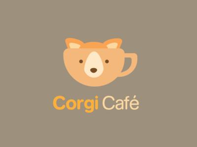 Corgi Logo floof kawaii bubbly cuddly cute snout cuplogo cup orangelogo orange coffeelogo coffee cafelogo cafe doglogo dog corgi logo logodesigns logodesign