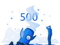 500 'Error Page' Illustration
