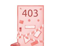 403 'Error Page' Illustration