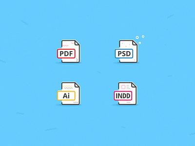 Icon set | PDF | PSD | Ai | INDD photoshop shapes vector minimal indesign psd pdf illustrator icons