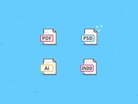 Icon set | PDF | PSD | Ai | INDD