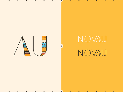 NOVAU | naming & branding typography simple nova aurum goldsmith gold naming branding logo