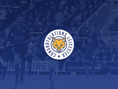 Congratulations Leicester rebranding sport fox title cup premier league congratulations branding logo football leicester
