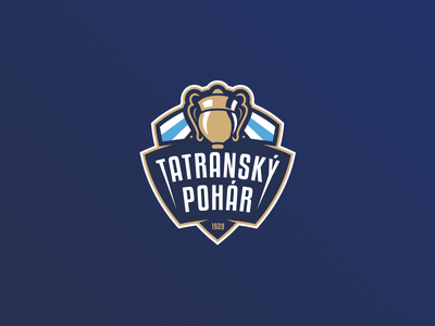 Tatranský Pohár badge sport illustrator trophy cup icehockey branding logo