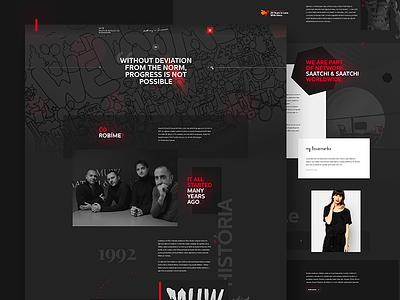 Website redesign for MUW Saatchi & Saatchi redesign webdesign web landing page index homepage dark saatchi