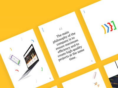 New brochure app web casestudy informations minimal simple brochure print branding wezeo presentation