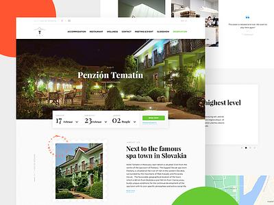 Hotel website redesign travel web design grid resort flat booking reservation web ui website redesign hotel