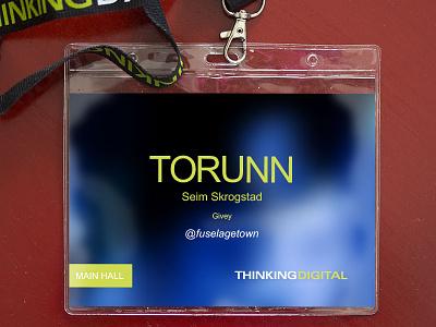 Lanyard and badge for @thinkingdigital