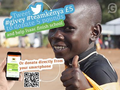 Event poster design for Team Kenya team kenya givey