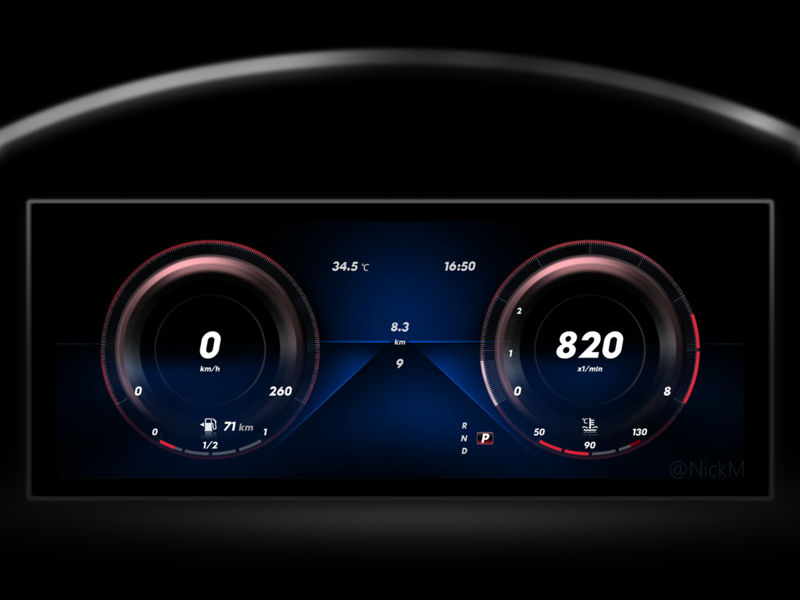 Daily Redesign UI24 Mercedes Benz mercedes benz redesign ux ui design hmi car dashboard car cluster car