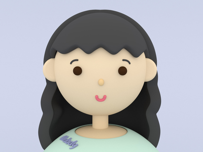 Self-portrait design character 3d