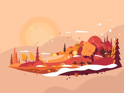 In Autumn vector illustration design illustration art illustration illustrator