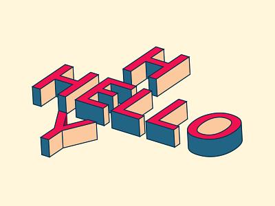 HELLO Hey typography design 3d illustrator illustration design illustration art illustration