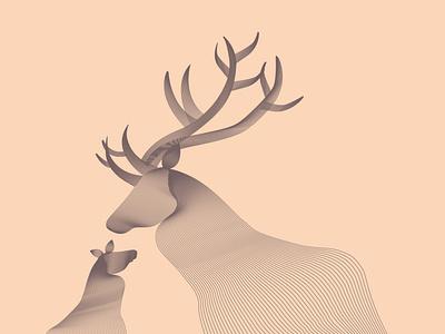 Deer animal character design illustration design illustration art illustration nature art nature