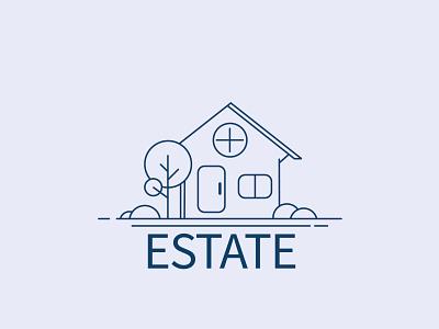 Estate Logo branding ui logo illustration design illustration art illustration design