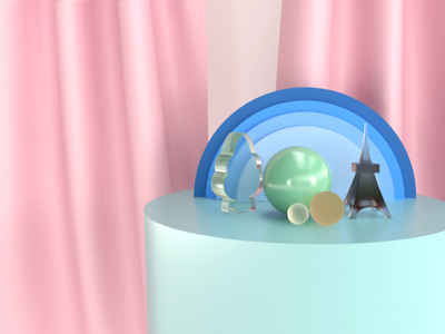 Little World c4d design 3d