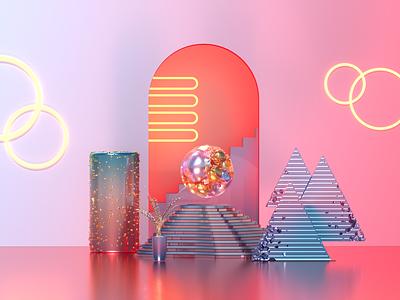 Vaporwave 3D Art cinema4d illustration design illustration illustration art design 3d