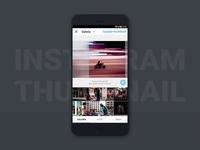 Diseño UX/UI de la imagen cuadrada en Instagram