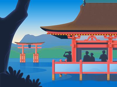 Torii Gate japan illustrator illustration