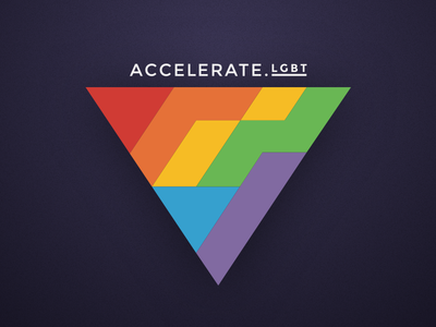 Accelerate.LGBT event logotype identity logotype lgbt event