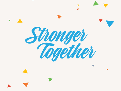 Stronger Together swag accelerate.lgbt