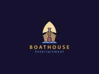 Boathouse production house boat entertainment logo