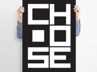 Choose - poster design choose poster type