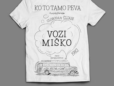 Ko to tamo peva bus t-shirt movie