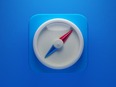 Safari 3d apple safari 3d app icon