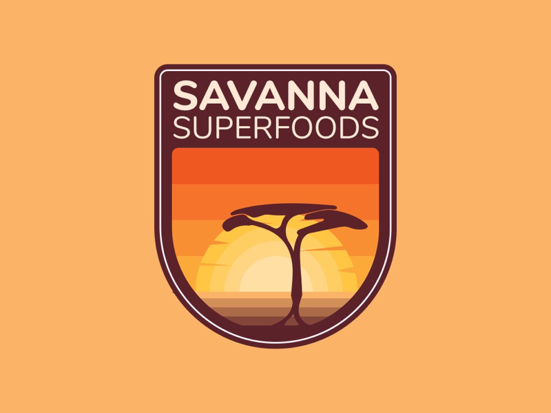 Badge logo design savana africa
