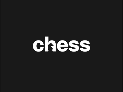 Chess design concept logo chess strategy