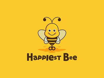 Toys toy bee design logo