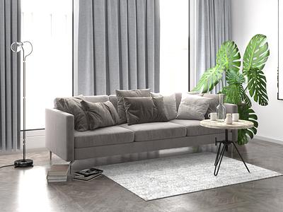 Modenr living room concept render visualisation design interior